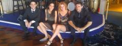 Melina Mizrahi and her band on a cruise